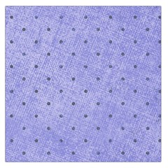 Dot Blue Large Satin Scarf (square)