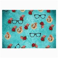 Vintage Glasses Large Glasses Cloth (2 Side)