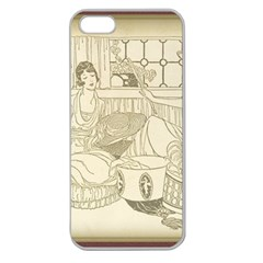 Vintage 979513 1280 Apple Seamless Iphone 5 Case (clear)