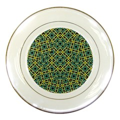 Arabesque Seamless Pattern Porcelain Plates
