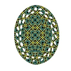 Arabesque Seamless Pattern Oval Filigree Ornament (two Sides)