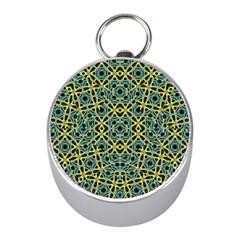 Arabesque Seamless Pattern Mini Silver Compasses