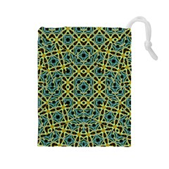 Arabesque Seamless Pattern Drawstring Pouches (large)