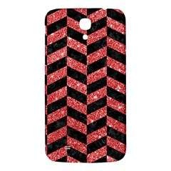 Chevron1 Black Marble & Red Glitter Samsung Galaxy Mega I9200 Hardshell Back Case