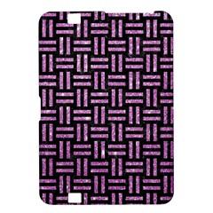 Woven1 Black Marble & Purple Glitter (r) Kindle Fire Hd 8 9