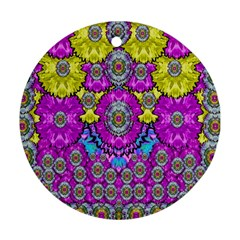 Fantasy Bloom In Spring Time Lively Colors Ornament (round)