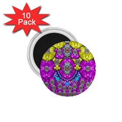 Fantasy Bloom In Spring Time Lively Colors 1 75  Magnets (10 Pack)
