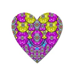 Fantasy Bloom In Spring Time Lively Colors Heart Magnet