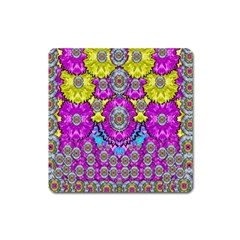 Fantasy Bloom In Spring Time Lively Colors Square Magnet