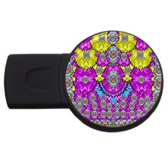Fantasy Bloom In Spring Time Lively Colors Usb Flash Drive Round (2 Gb)