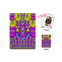 Fantasy Bloom In Spring Time Lively Colors Playing Cards (mini)