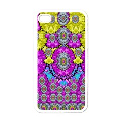 Fantasy Bloom In Spring Time Lively Colors Apple Iphone 4 Case (white)
