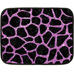 Skin1 Black Marble & Purple Glitter Fleece Blanket (mini)