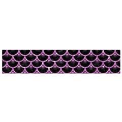 Scales3 Black Marble & Purple Glitter (r) Small Flano Scarf