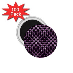 Scales2 Black Marble & Purple Glitter (r) 1 75  Magnets (100 Pack)