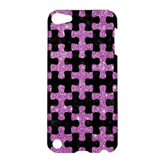 Puzzle1 Black Marble & Purple Glitter Apple Ipod Touch 5 Hardshell Case