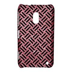 Woven2 Black Marble & Pink Glitter Nokia Lumia 620