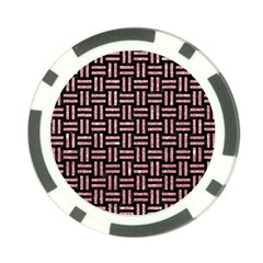Woven1 Black Marble & Pink Glitter (r) Poker Chip Card Guard
