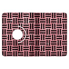 Woven1 Black Marble & Pink Glitter Kindle Fire Hdx Flip 360 Case