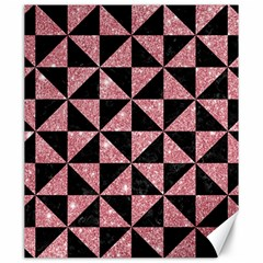 Triangle1 Black Marble & Pink Glitter Canvas 20  X 24