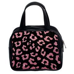 Skin5 Black Marble & Pink Glitter Classic Handbags (2 Sides)
