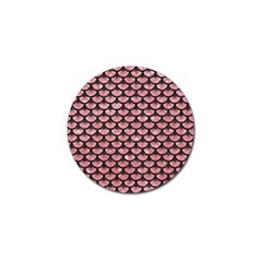 Scales3 Black Marble & Pink Glitter Golf Ball Marker (10 Pack)