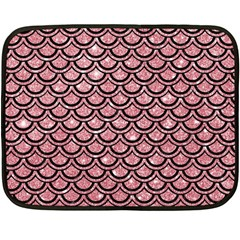 Scales2 Black Marble & Pink Glitter Fleece Blanket (mini)