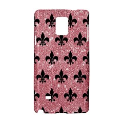 Royal1 Black Marble & Pink Glitter (r) Samsung Galaxy Note 4 Hardshell Case