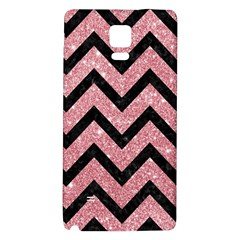Chevron9 Black Marble & Pink Glitter Galaxy Note 4 Back Case