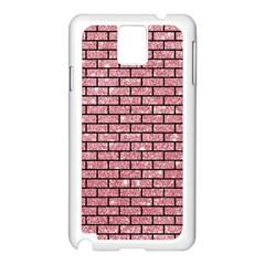 Brick1 Black Marble & Pink Glitter Samsung Galaxy Note 3 N9005 Case (white)