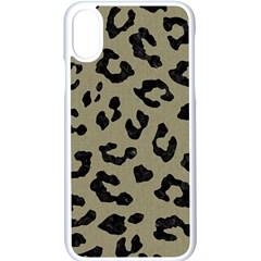 Skin5 Black Marble & Khaki Fabric (r) Apple Iphone X Seamless Case (white)