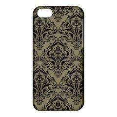Damask1 Black Marble & Khaki Fabric Apple Iphone 5c Hardshell Case