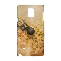 Old Wall Clock Vintage Style Photo Samsung Galaxy Note 4 Hardshell Case