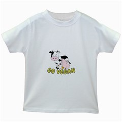 Friends Not Food   Cute Pig And Chicken Kids White T Shirts