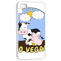 Friends Not Food   Cute Cow, Pig And Chicken Apple Iphone 4/4s Seamless Case (white)