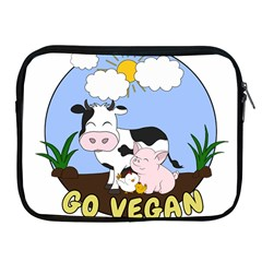 Friends Not Food   Cute Cow, Pig And Chicken Apple Ipad 2/3/4 Zipper Cases