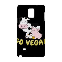Friends Not Food   Cute Cow, Pig And Chicken Samsung Galaxy Note 4 Hardshell Case