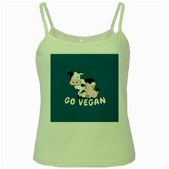 Friends Not Food   Cute Cow, Pig And Chicken Green Spaghetti Tank