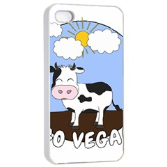 Friends Not Food   Cute Cow Apple Iphone 4/4s Seamless Case (white)