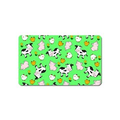 The Farm Pattern Magnet (name Card)