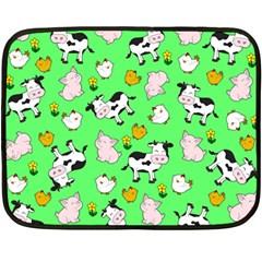 The Farm Pattern Fleece Blanket (mini)
