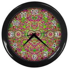 Love The Wood Garden Of Apples Wall Clocks (black)