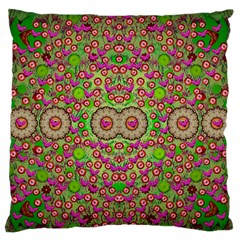 Love The Wood Garden Of Apples Large Flano Cushion Case (two Sides)