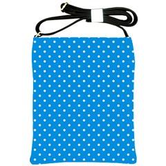 Blue Polka Dots Shoulder Sling Bags