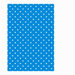 Blue Polka Dots Small Garden Flag (two Sides)