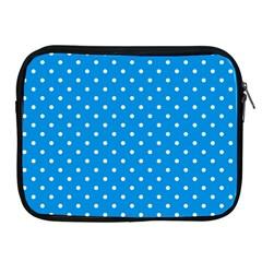 Blue Polka Dots Apple Ipad 2/3/4 Zipper Cases