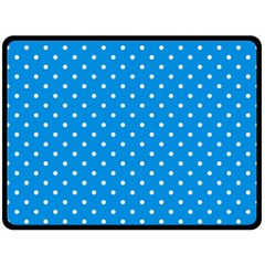 Blue Polka Dots Double Sided Fleece Blanket (large)