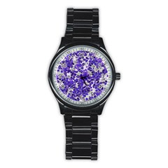 Mistic Leaves Stainless Steel Round Watch