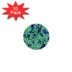 Moonlight On The Leaves 1  Mini Buttons (10 Pack)