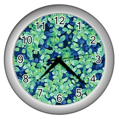 Moonlight On The Leaves Wall Clocks (silver)